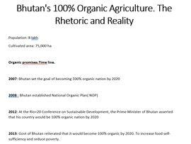 Bhutan's 100% Organic Agriculture