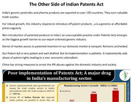 The otherside of Indian Patents Act